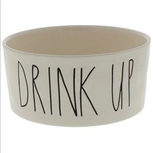 Rae Dunn Drink Up Dog Bowl